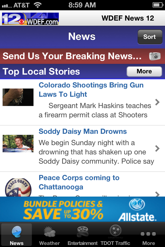 Image of WDEF TV 12 for iPhone